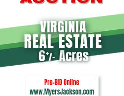 America's Auctioneer Myers Jackson in Virginia. Allegheny County Real Estate.