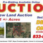 Grapevine TX realtors; North Texas land for sale at auction; #ValleyViewLandAuction; Myers Jackson America's Auctioneer #17057